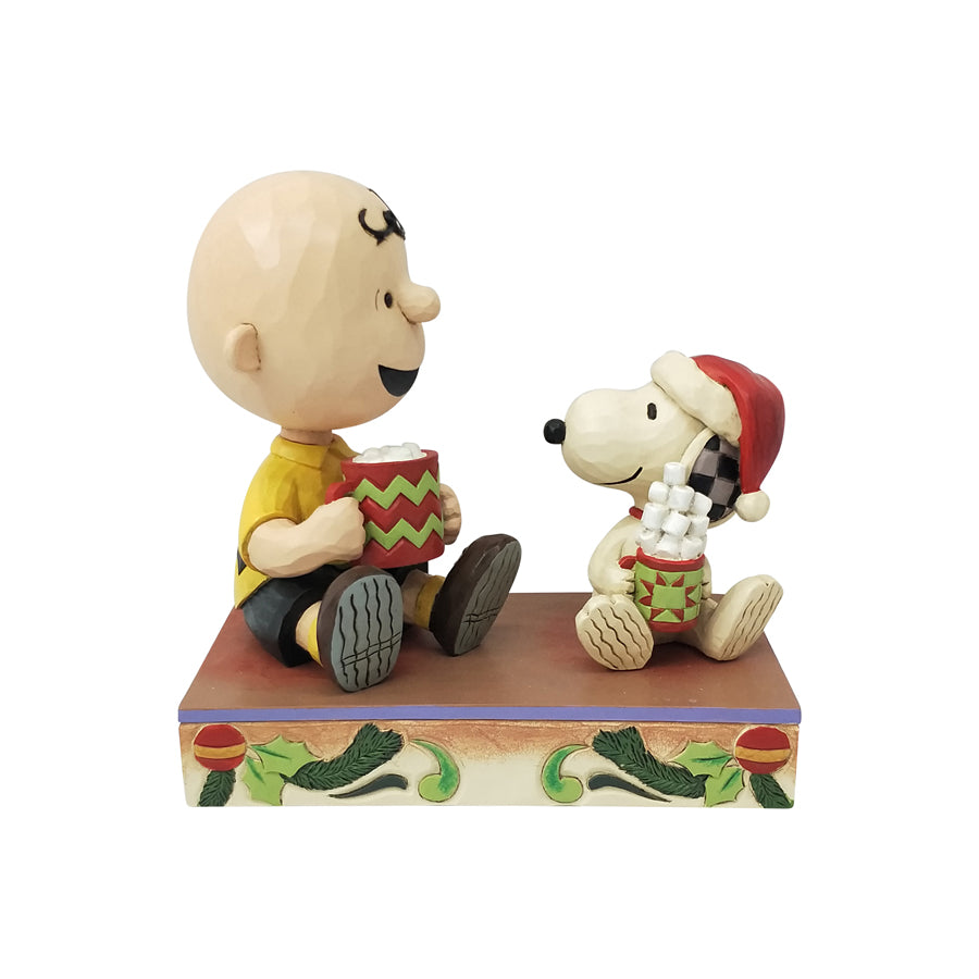 Charlie Brown/Snoopy w/Cocoa