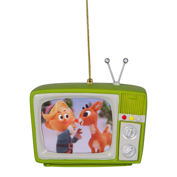 Rudolph Green TV Ornament