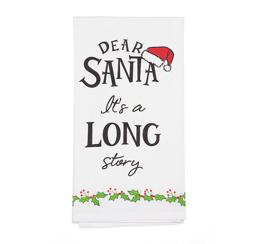 Dear Santa Story Bar Towel