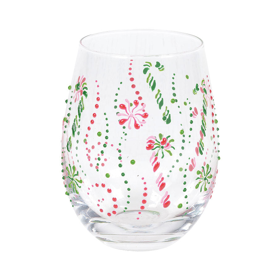 Candy Canes Stemless Glass