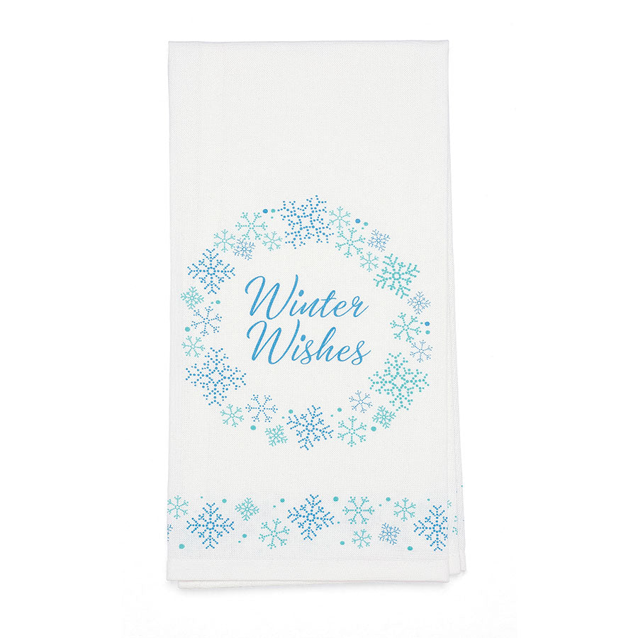 Snowflakes Bar Towel
