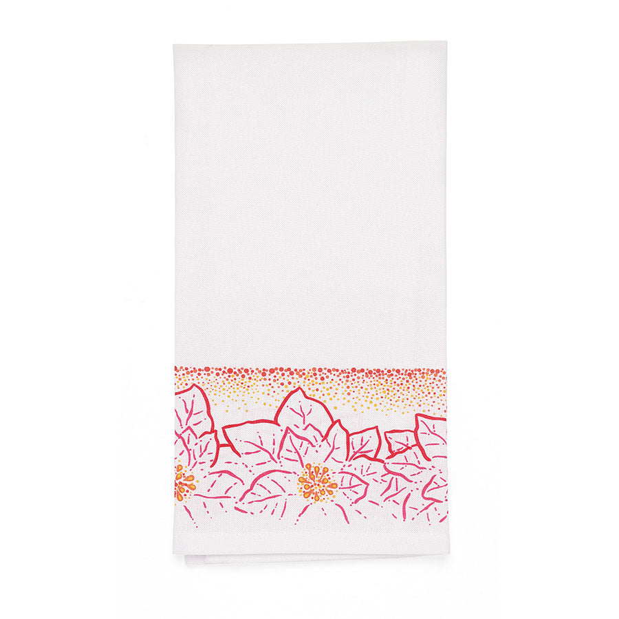 Poinsettias Bar Towel