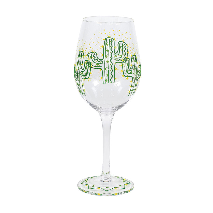 Cactus Stem Wine Glass