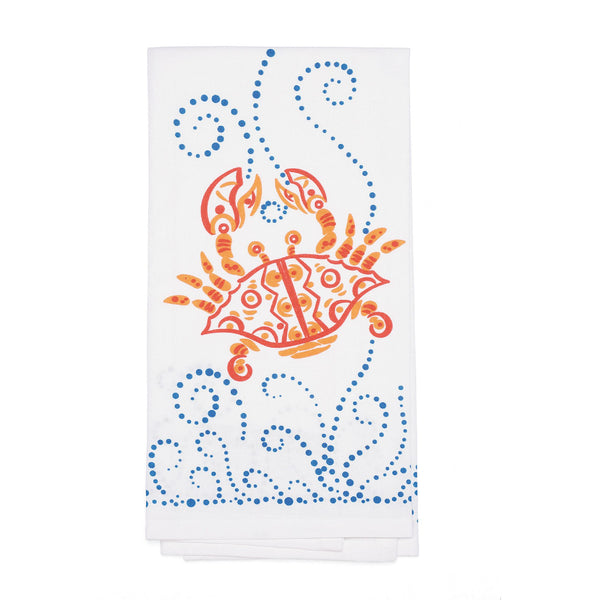 Red Crab Bar Towel