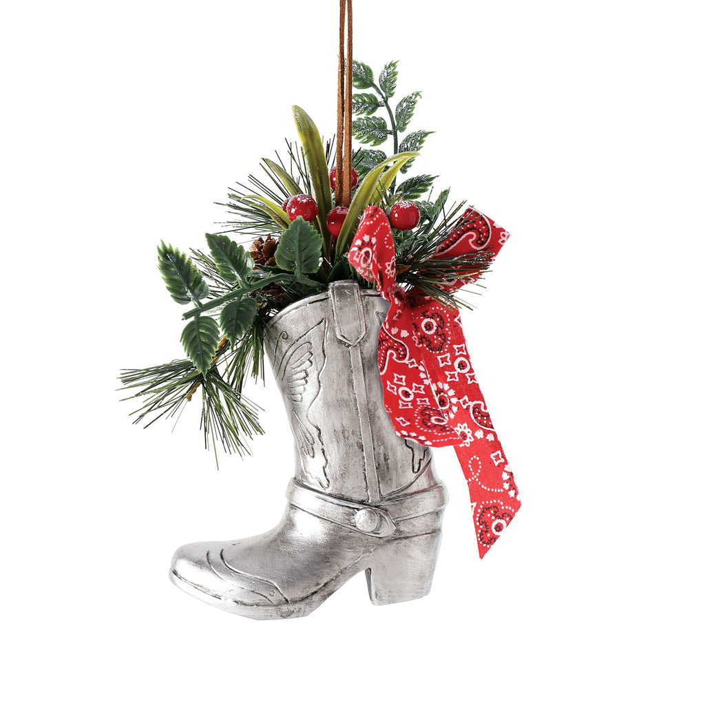 Boot with Greenery Orn