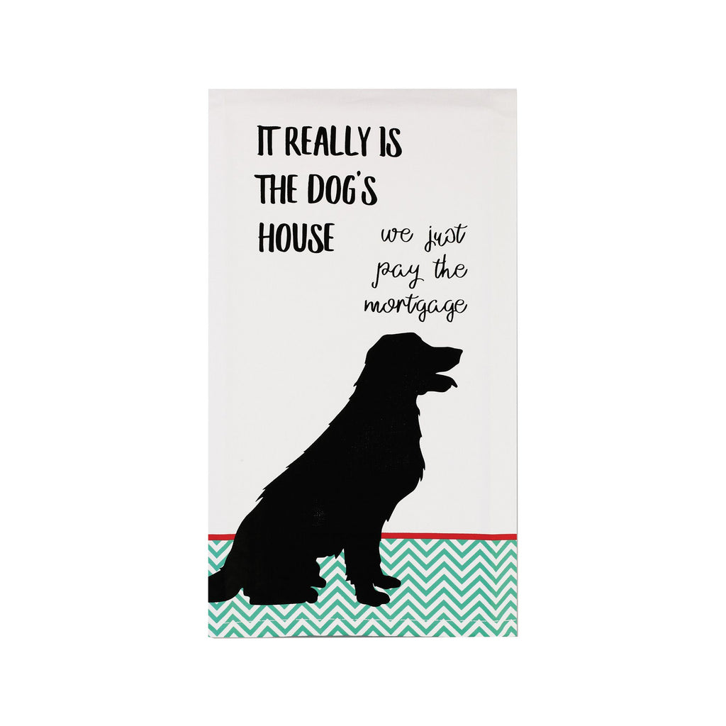 Dog's House Tea Towel