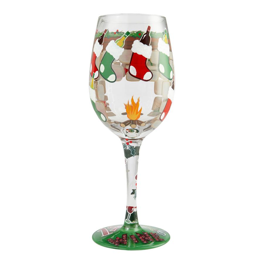Wine Glass 12 Days of Wine