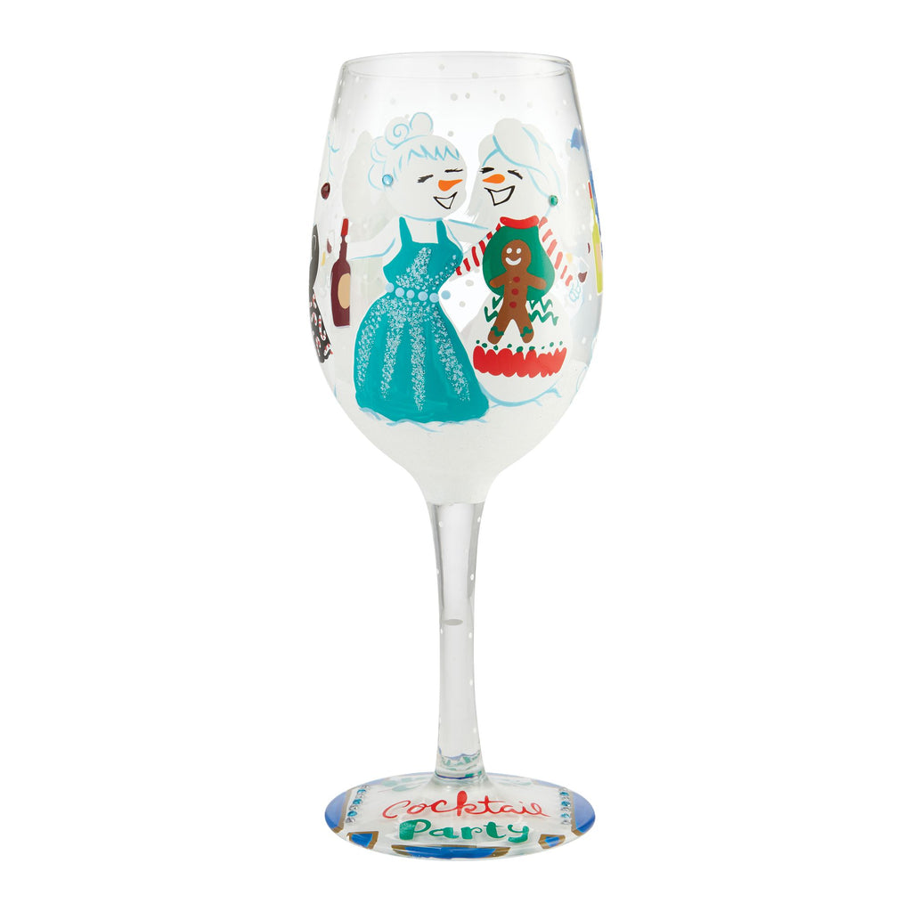 Wine Glass Holiday Cocktail