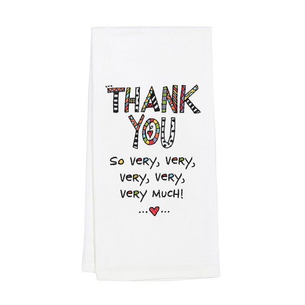 Embroidered Thank You TeaTowel