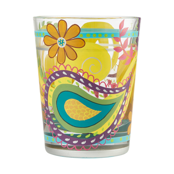 Rocks Glass Paisley Swirl