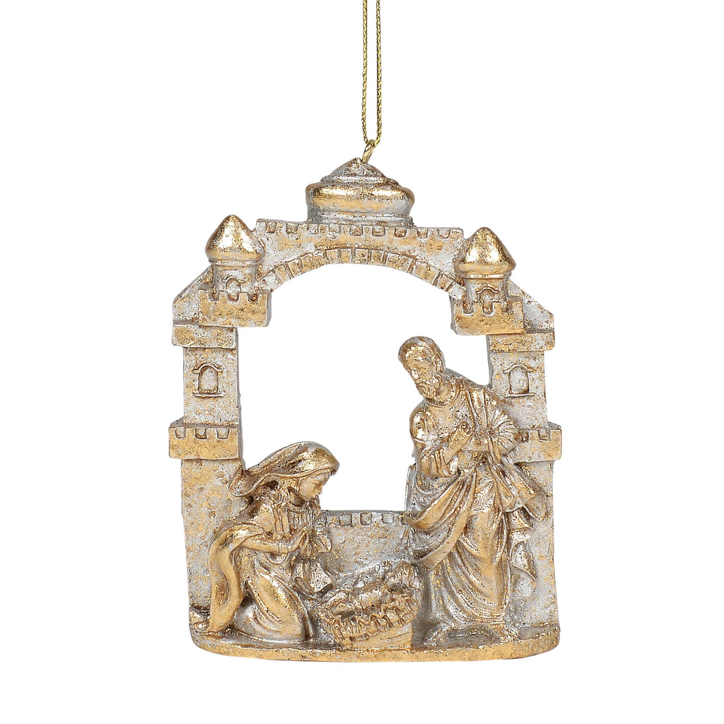 Gold Holy Family Orn