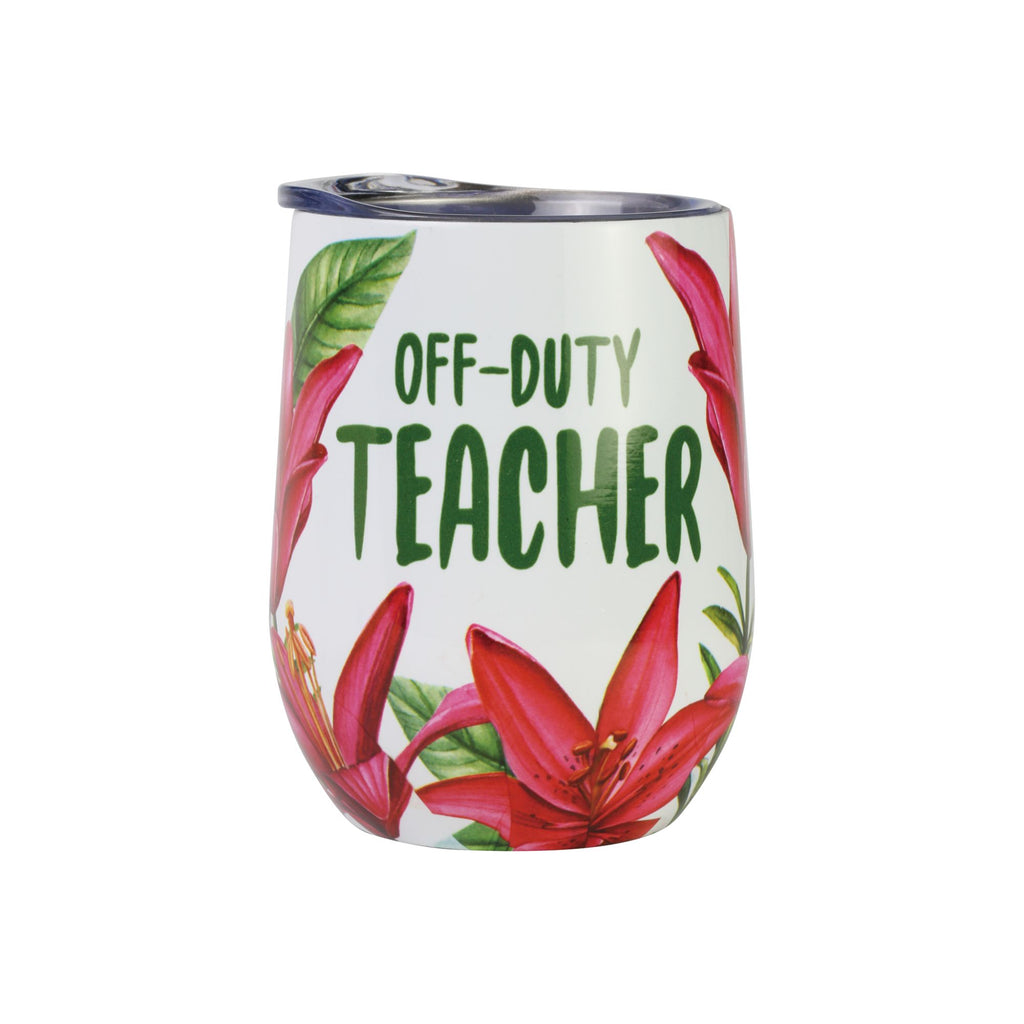 Teacher Off Duty Floral Tumble