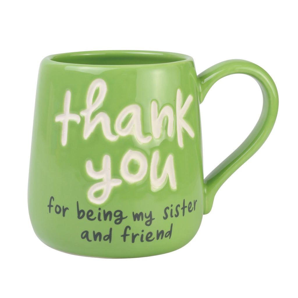 Thank You Sister Engraved Mug