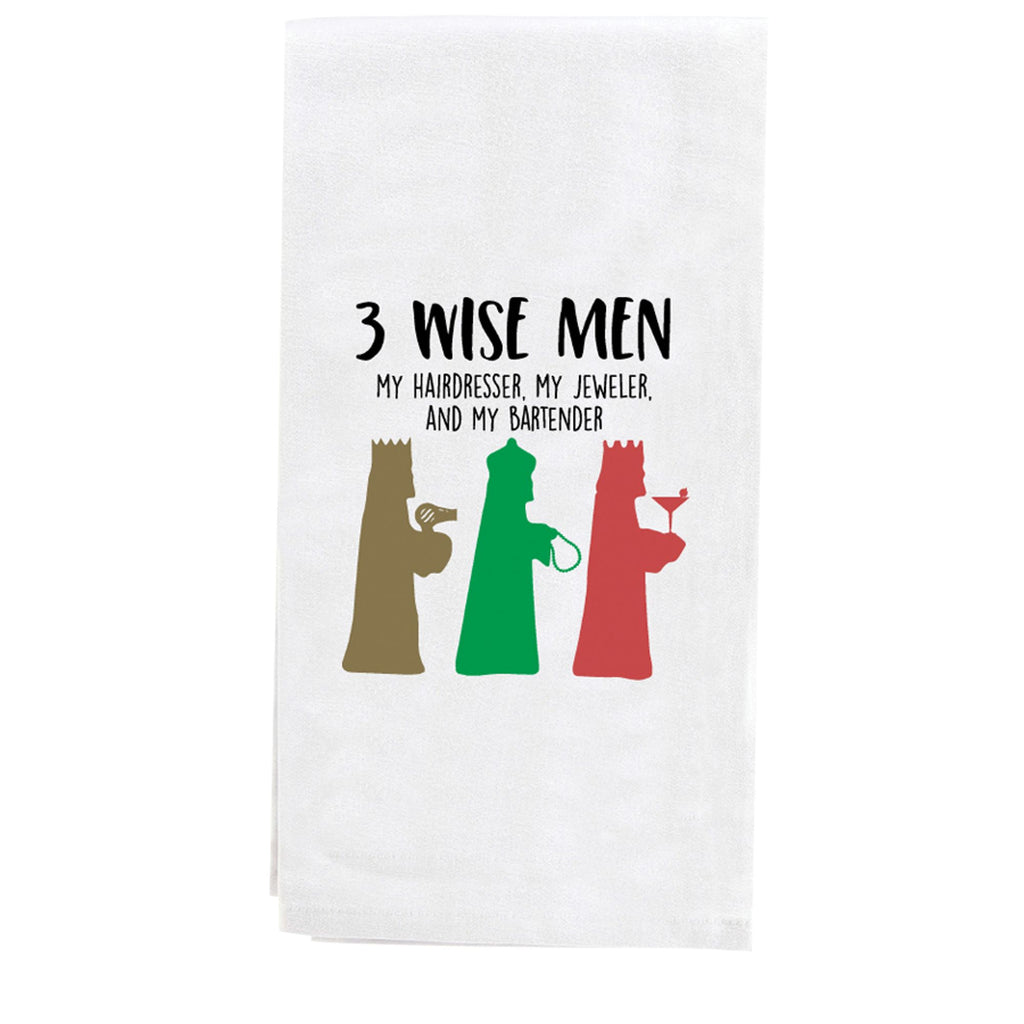 3 WISE MEN TEA TOWEL