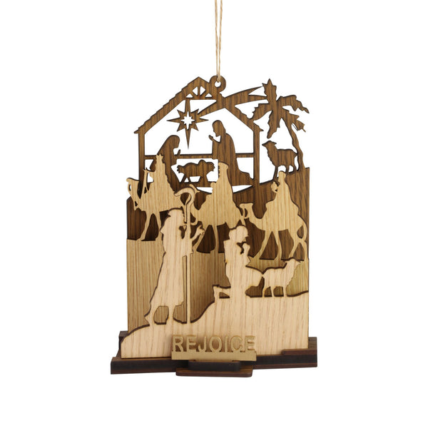 Rejoice Natural Nativity Orn