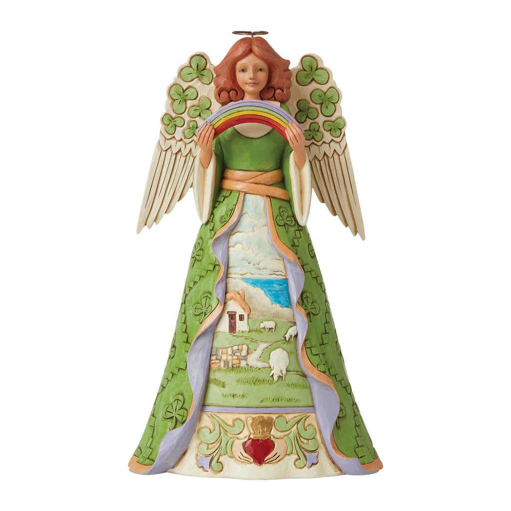 Irish Angel with Shamrock Wing