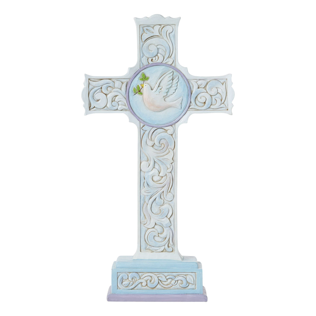 Standing Cross 2sided Dove/Lil