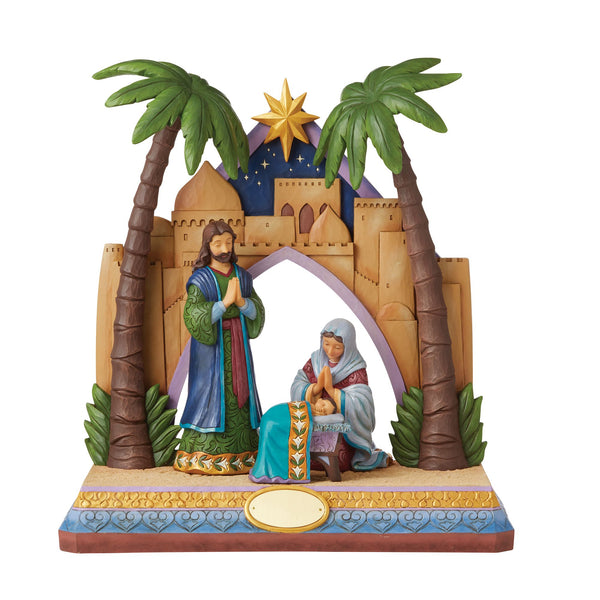 Holy Family/Stable 4 Pc CollEd