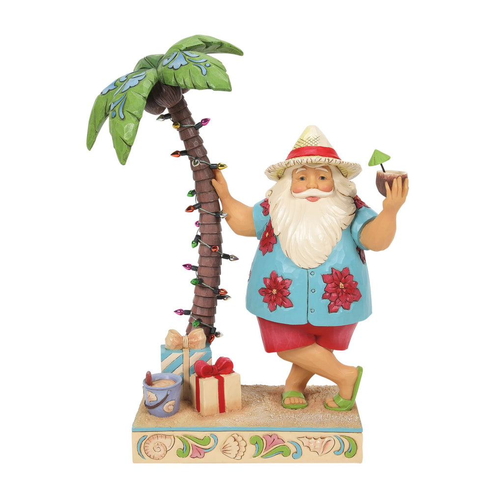 Santa by Palm Tree