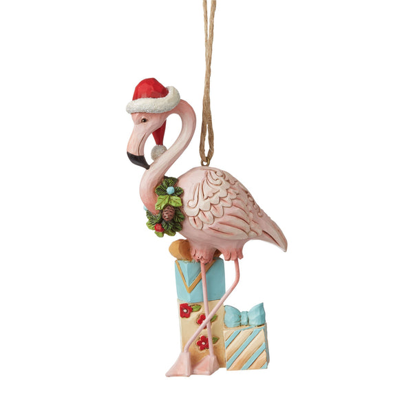 Christmas Flamingo Ornament