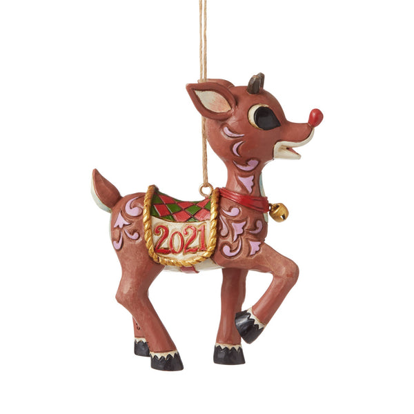 Dated 2021 Rudolph Ornament