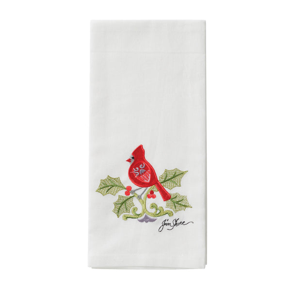 Christmas Cardinal Tea Towel