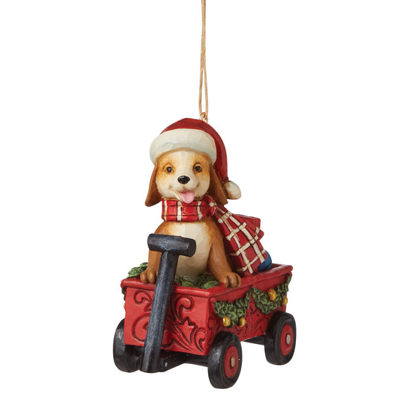 Dog in Wagon Ornament