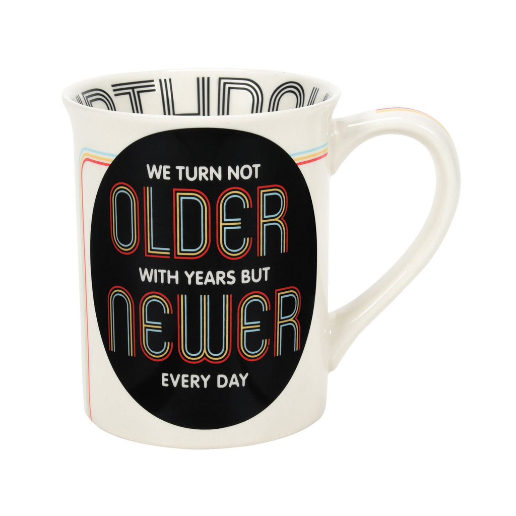 OLDER NEWER OVER THE HILL MUG