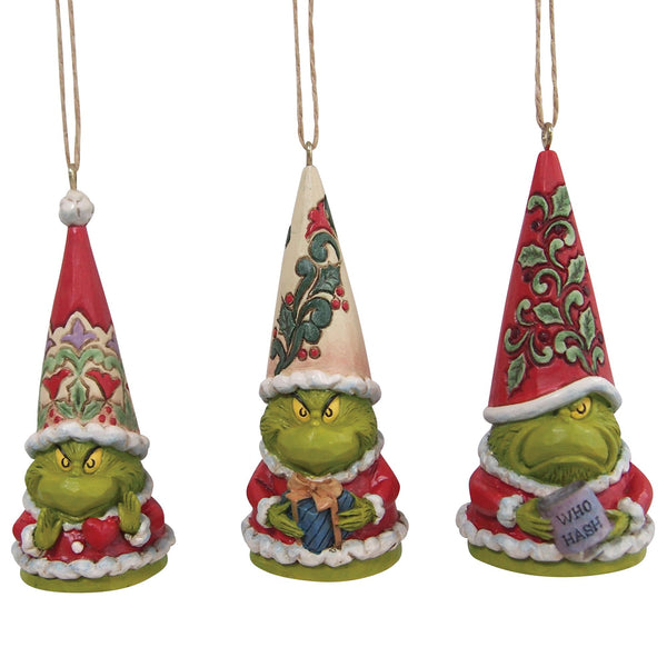 Set of 3 Grinch Gnome Ornament