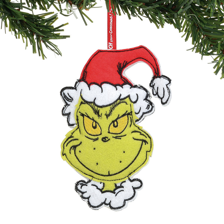 Double Sided Grinch Felt Orn.
