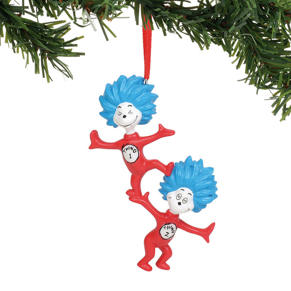 Thing 1 Thing 2 Ornament