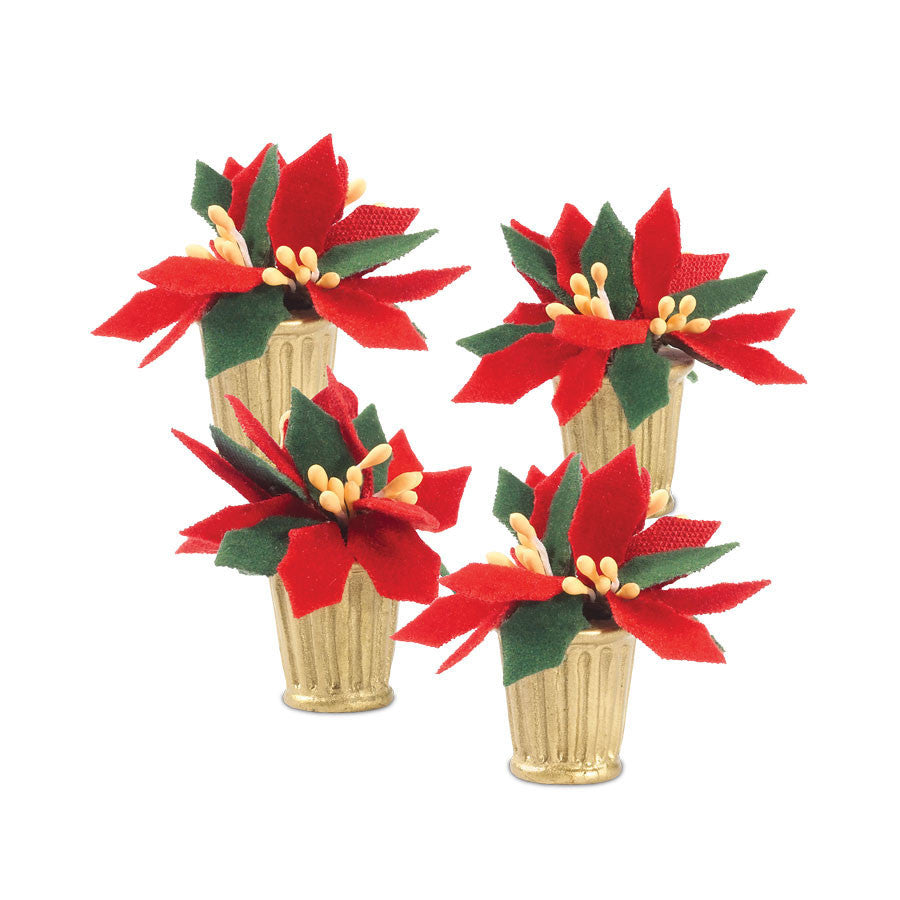 Potted Poinsettias  St/4
