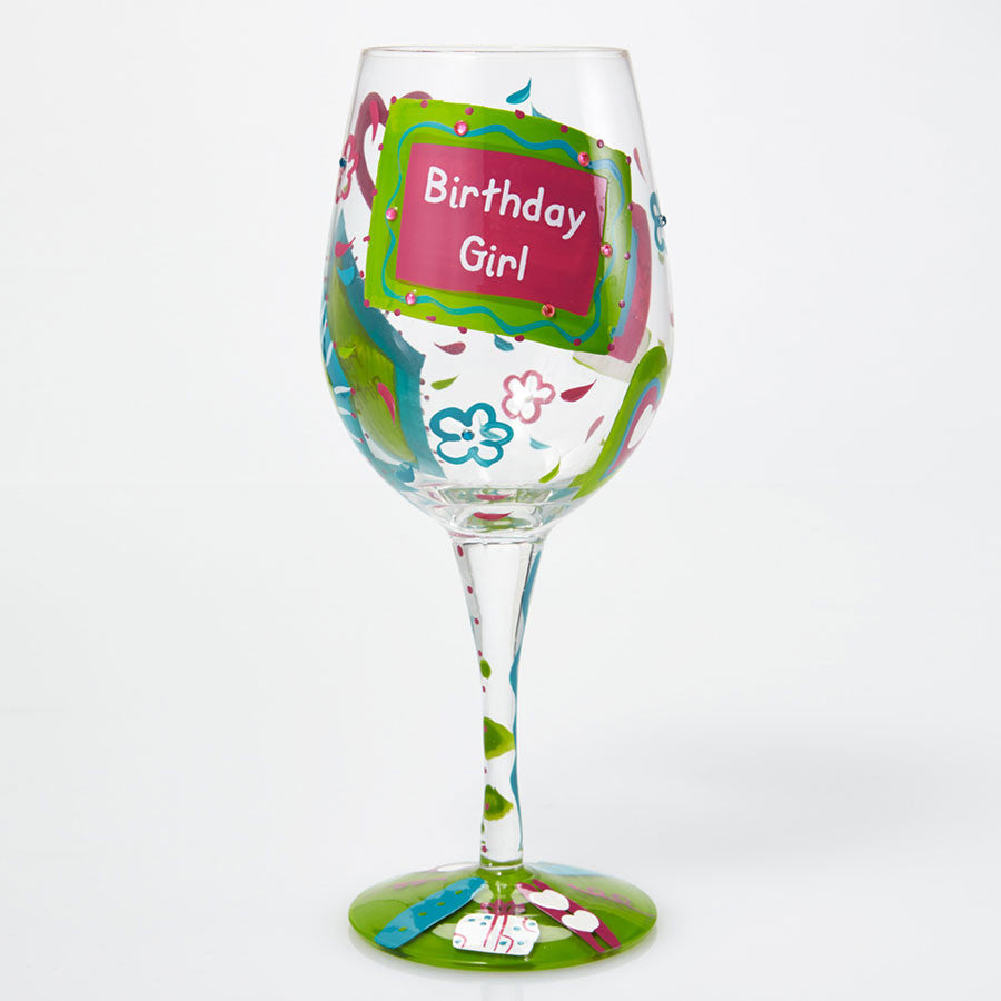 WINE GLASS BIRTHDAY GIRL TOO