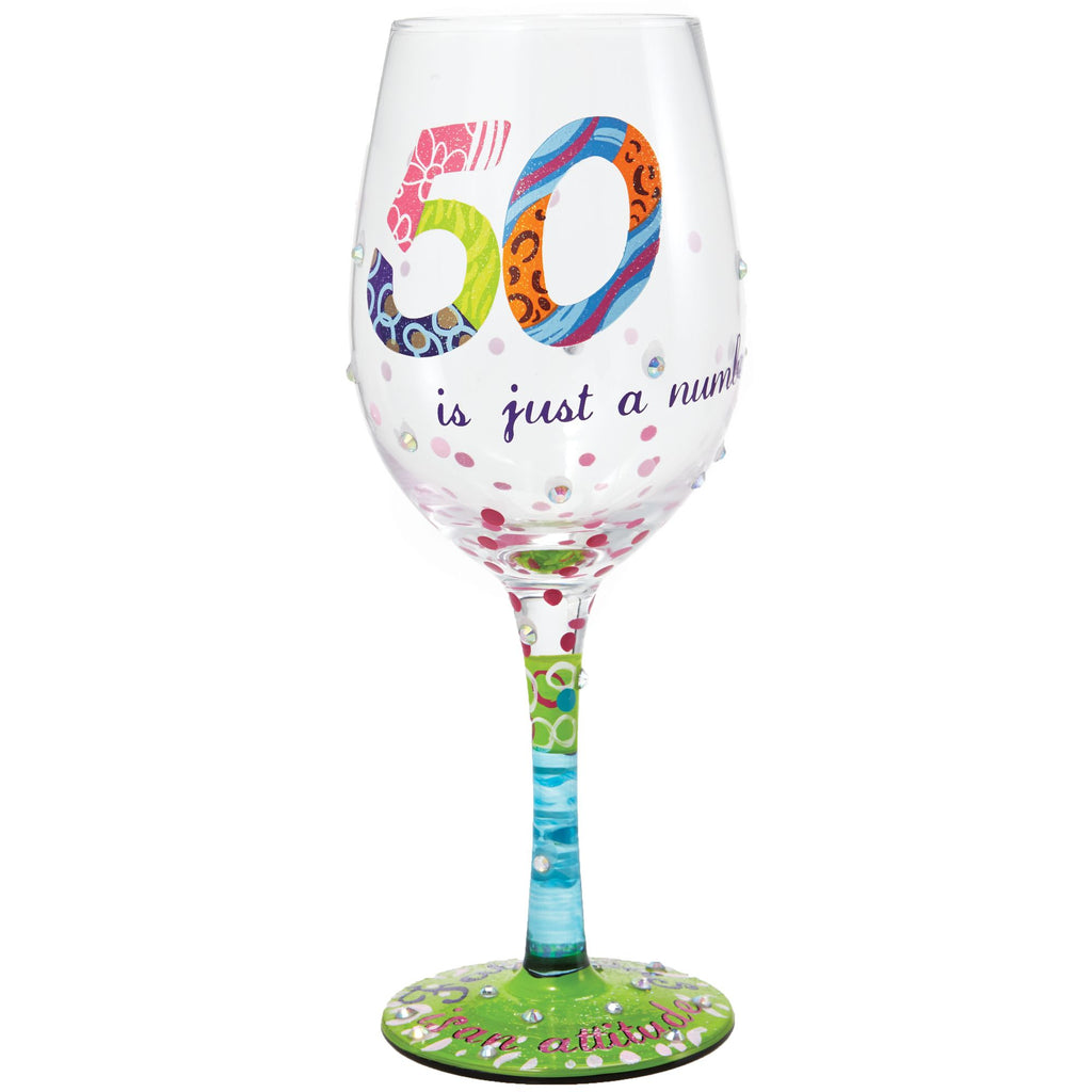 WINE GLASS 50 IS JUST A NUMBER