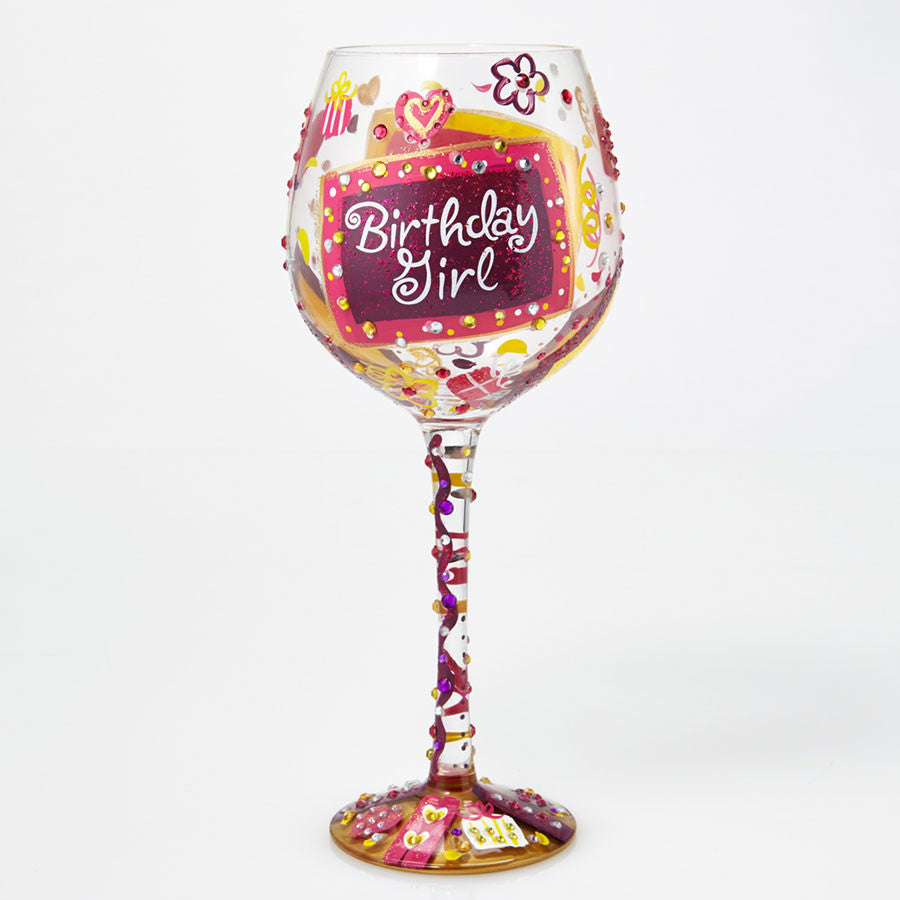 WINE GLASS BLING BIRTHDAY GIRL