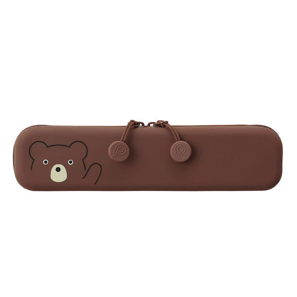 Bear Zipper Slim Zipper Pouch