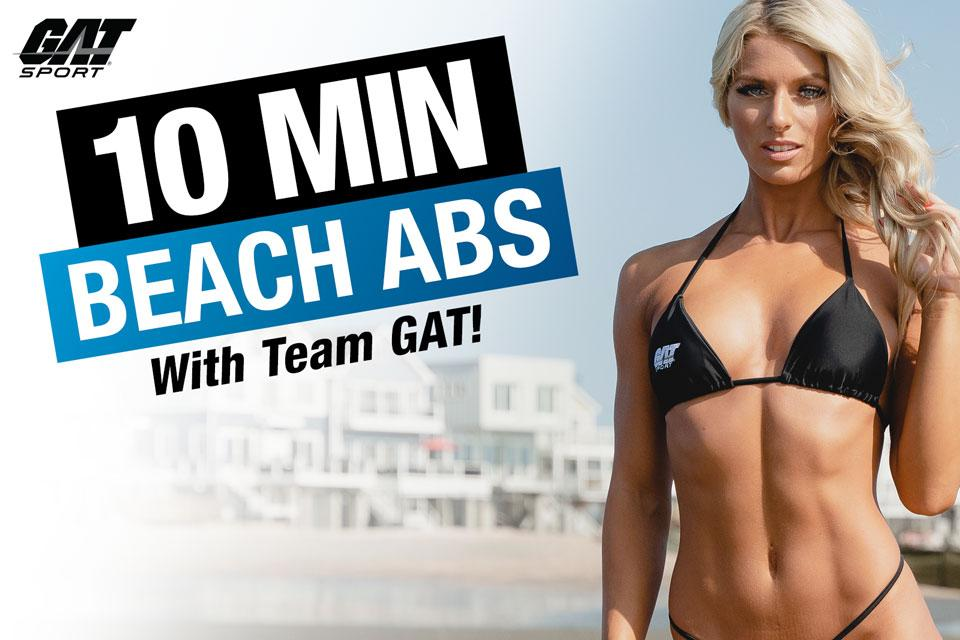 WANT BEACH READY ABS? A quick & easy beach ab workout with no equipment! | GAT SPORT