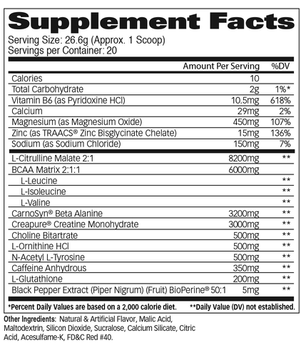 Psychon - Watermelon Supplement Facts