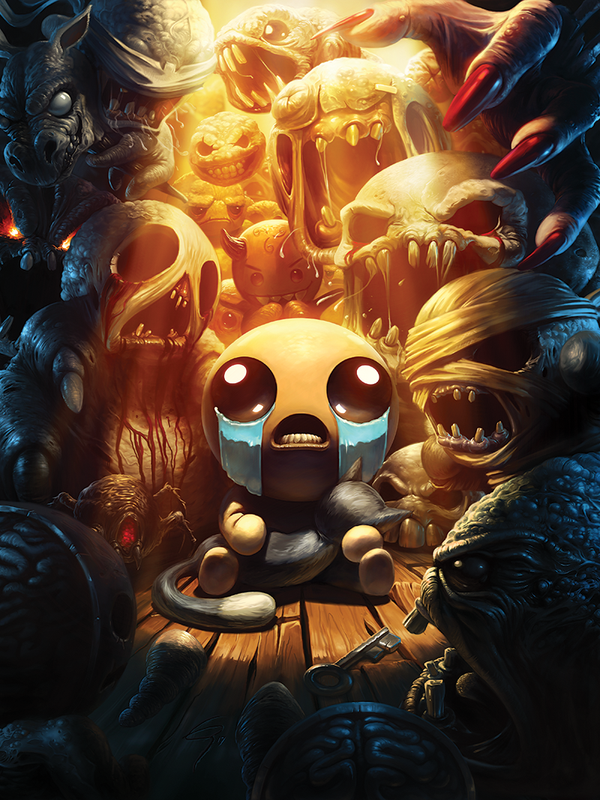 The Binding of Isaac Afterbirth+ Title Poster