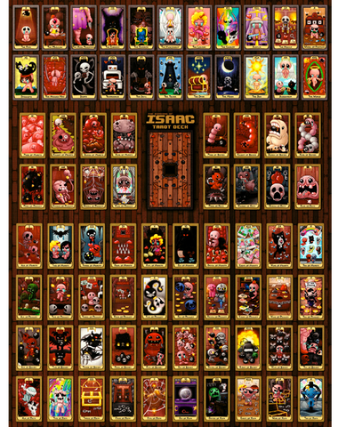The Binding of Isaac Tarot Cards Wall Poster