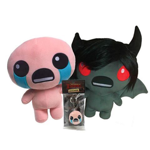 The Binding of Isaac Gen1 Plush Figure and Keychain Bundle