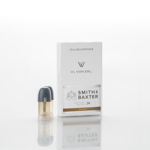 Von erl ejuice pods are available with Classic Tobacco ejuice from Smith and Baxter