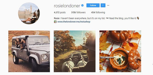 Rosie Londoner instagram account