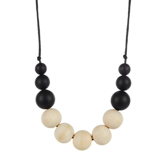 wooden & silicone teething necklace