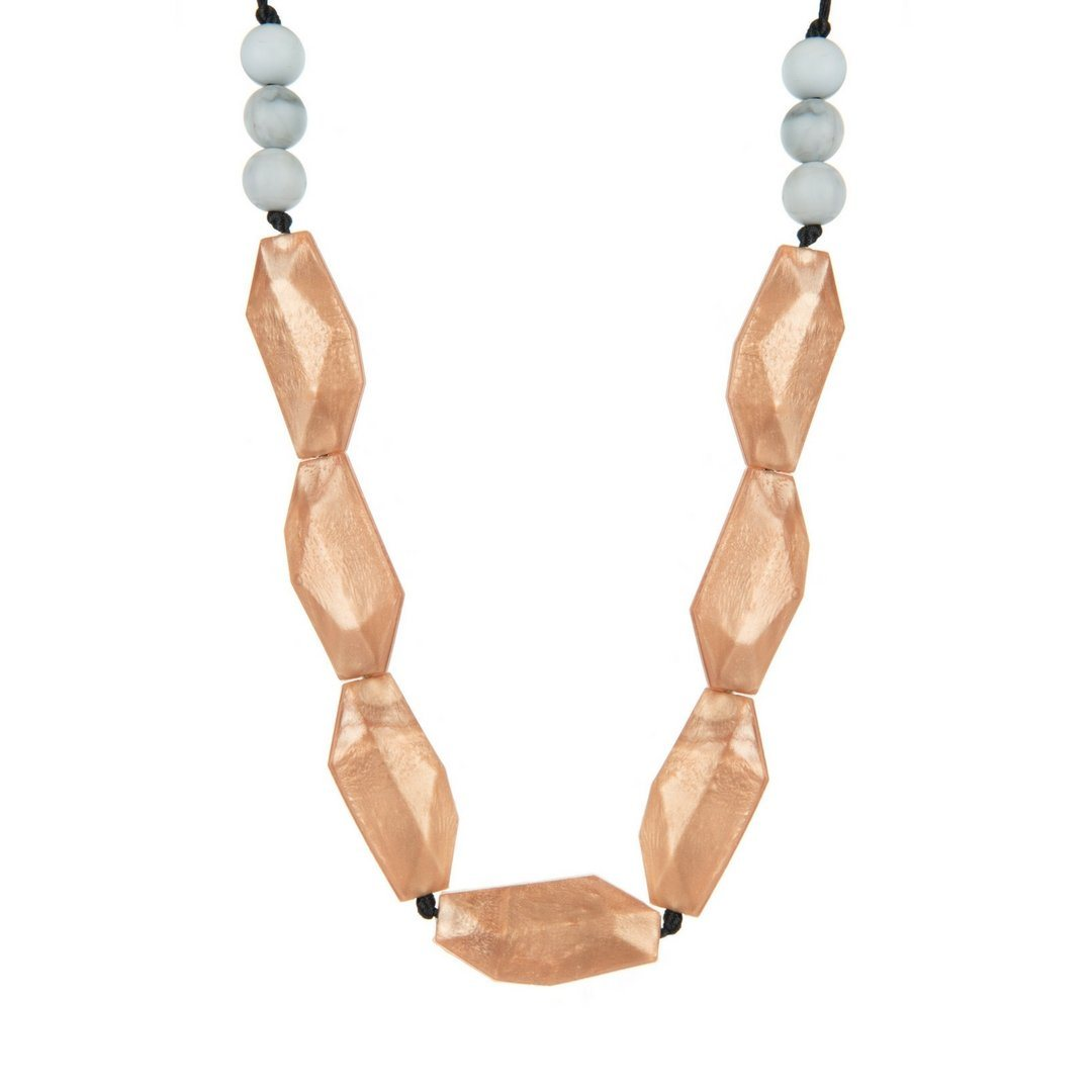 Boo Chew Teething Necklace rose gold