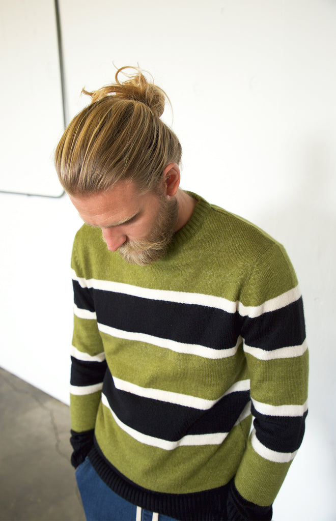 Gustine Knitted Sweater | Olive
