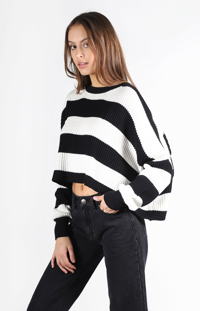 Sahara Sweater | Black Stripe