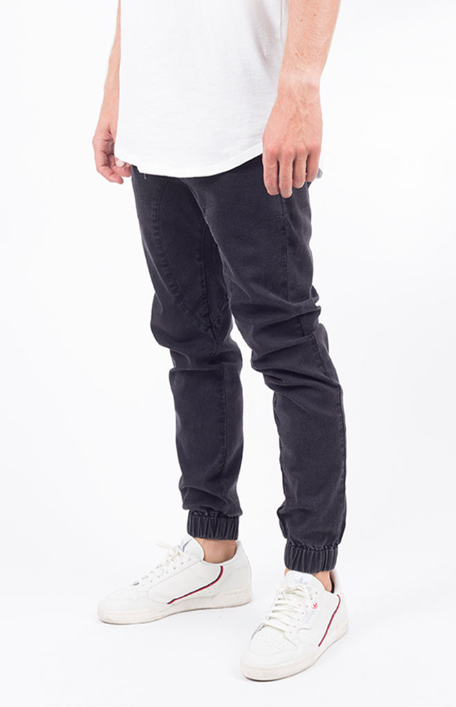 Vintage Denim Jogger | Black
