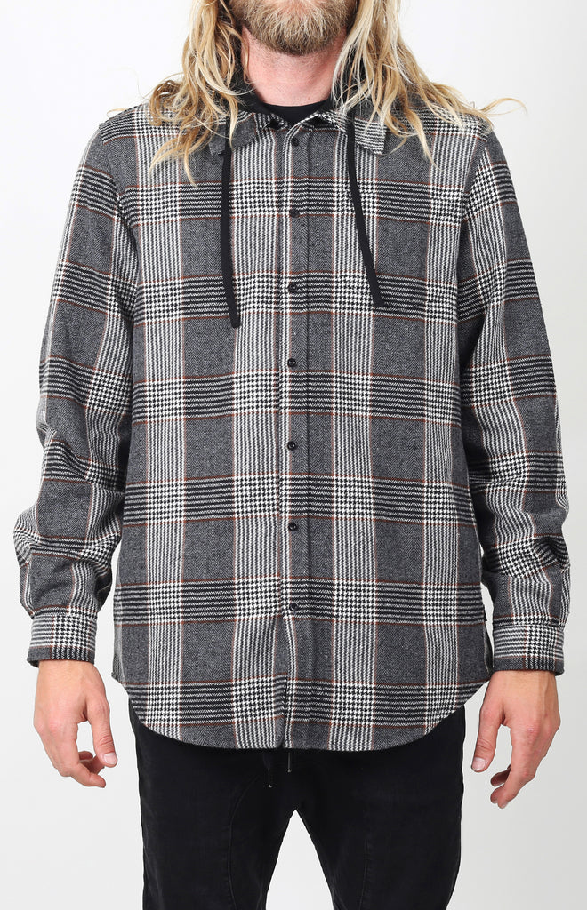 Willows Hooded Flannel | Charcoal