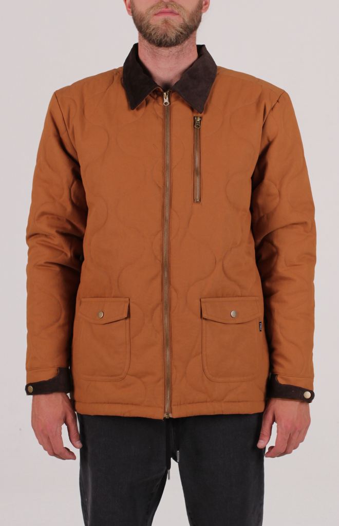 HORICON QUILTED JACKET BROWN